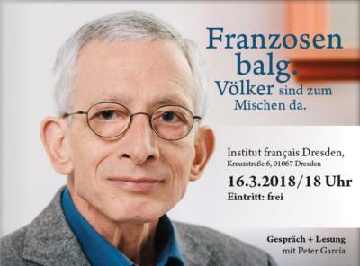 Plakat von Peter Garcia Institut francais Dresden