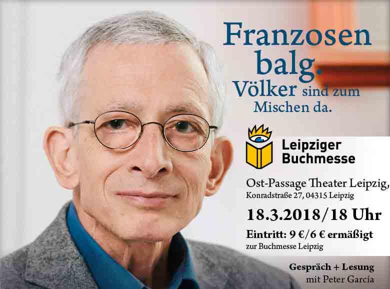 Plakat Peter Garcia zur Leipziger Buchmesse