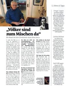 Artikel über Peter Garcia in der Vita Apotheke Eimsbüttel