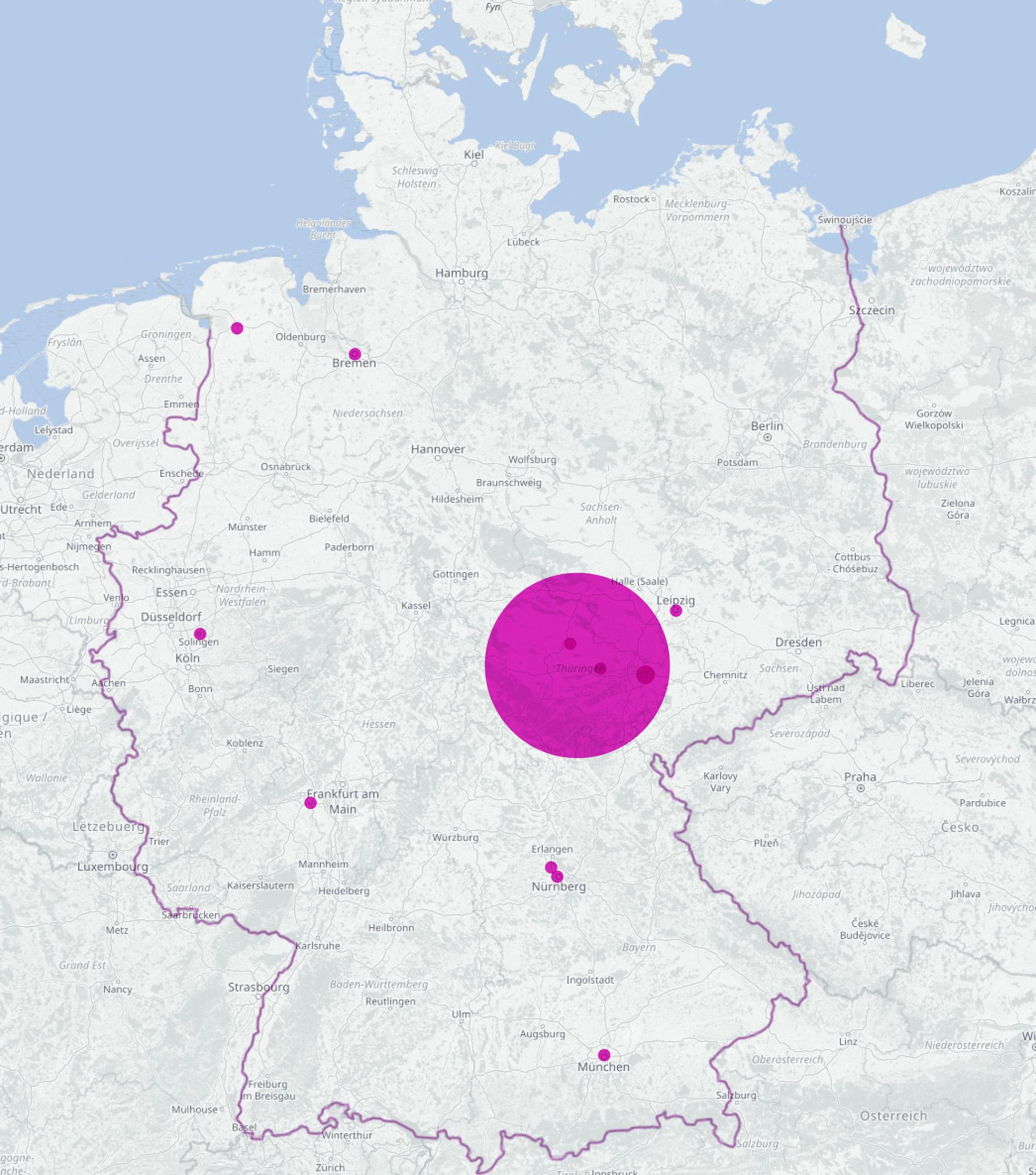 Coronabuch_Bestellungen_100 OSM Karte Deutschland