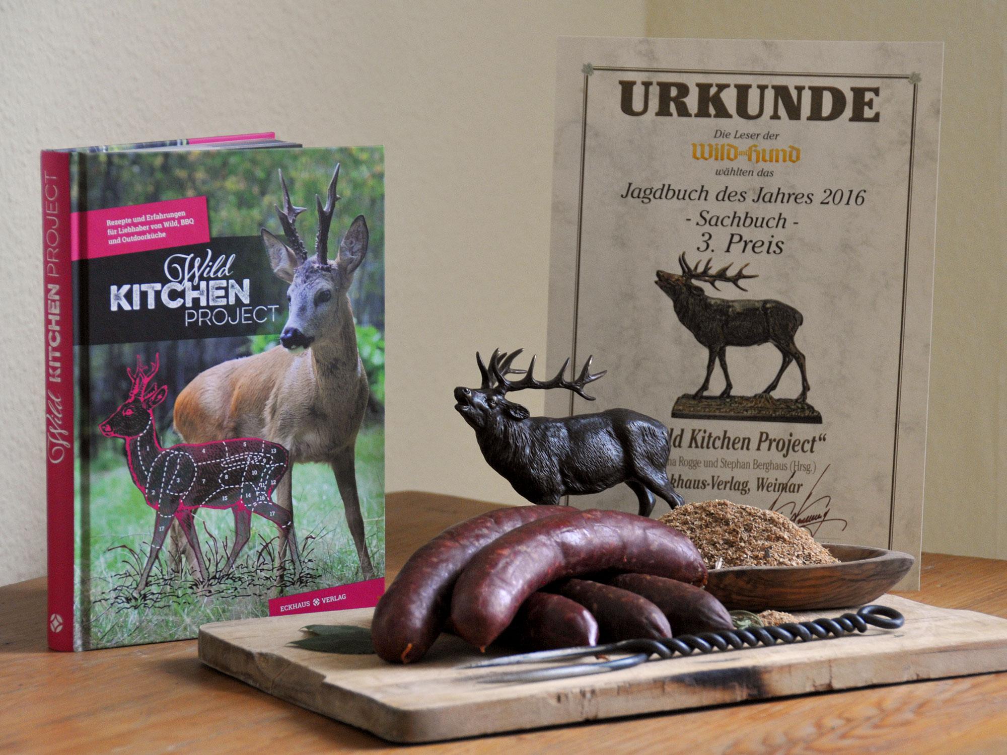 Foto von Wild Kitchen Project und Urkunde Sachbuch