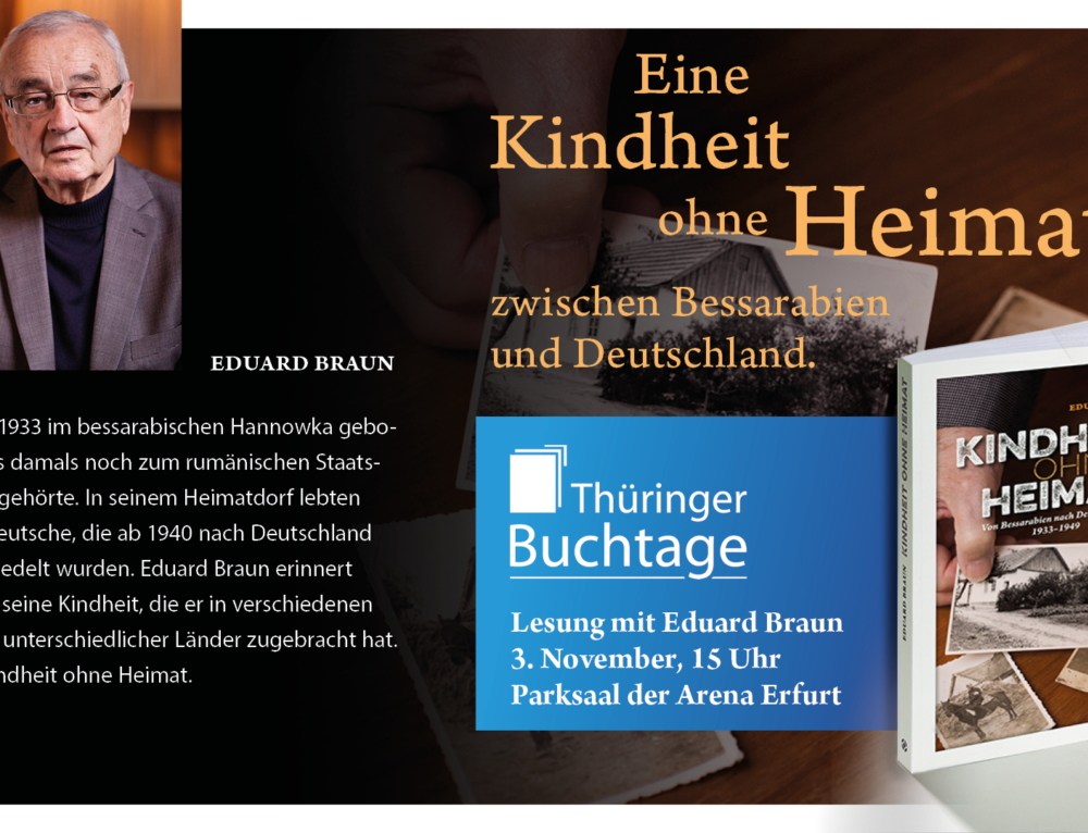 Lesung mit Eduard Braun am 3. November