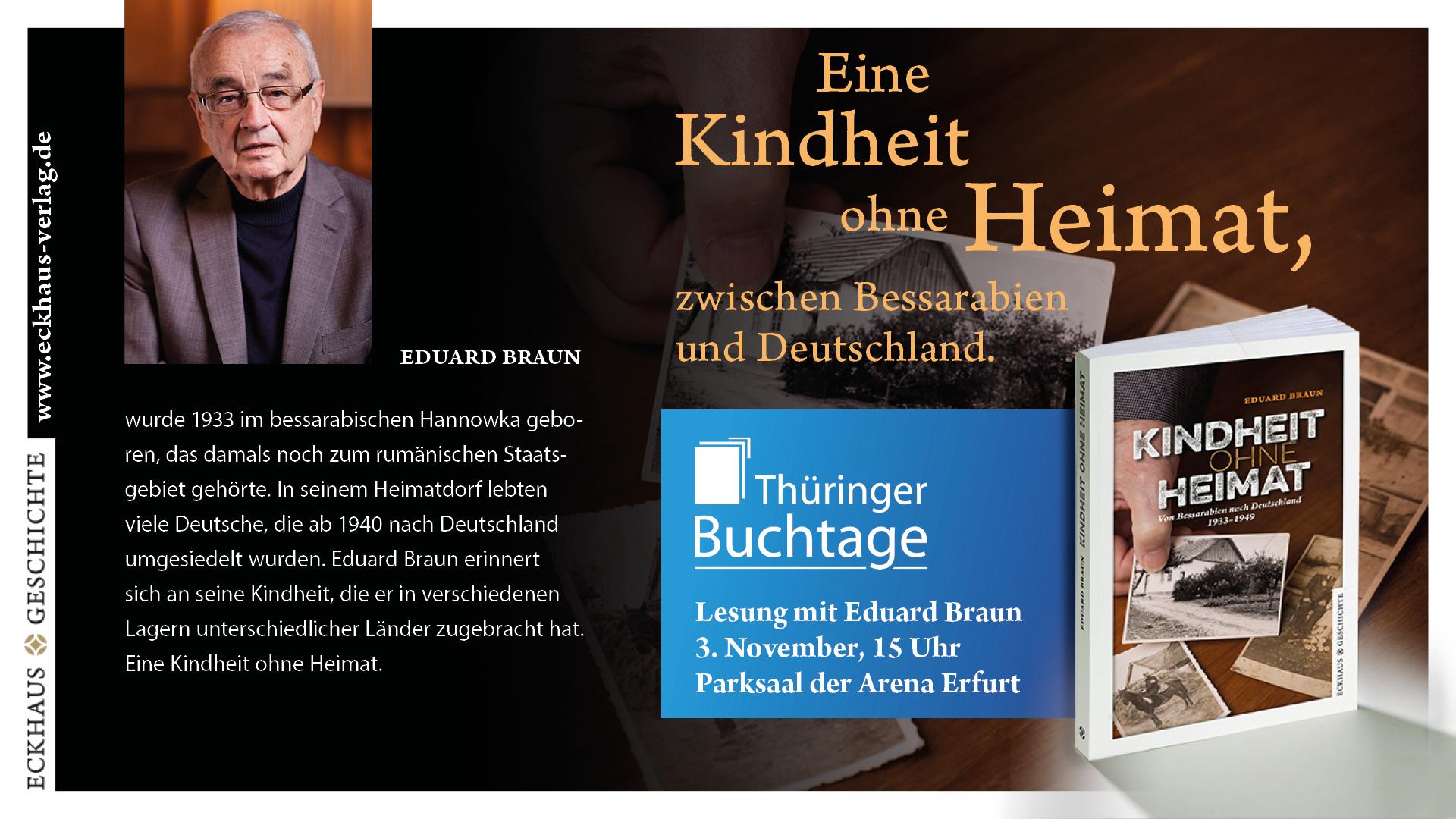 Grafik Kindheit ohne Heimat zu den Thüringer Buchtagen