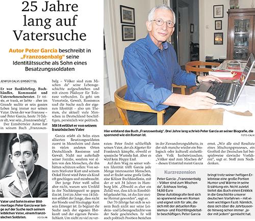 Zeitungsartikel über Peter Garcia