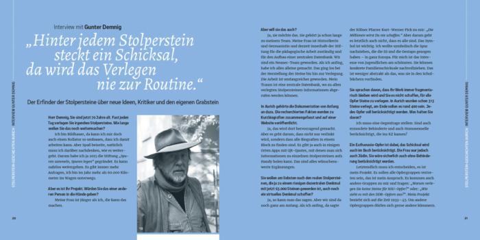 Interview mit Gunter Demnig