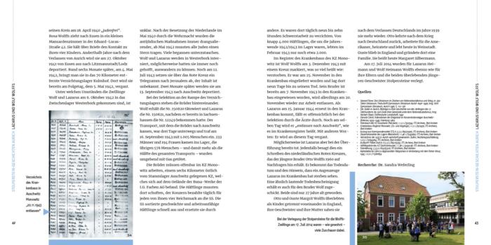 Buchauszug Stolperstein-Geschichten Aurich
