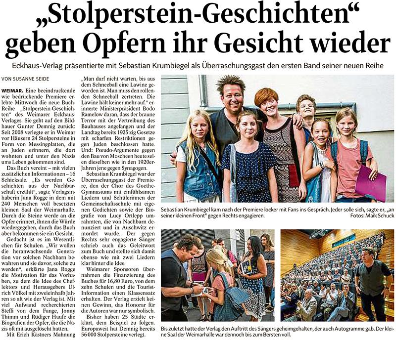 Zeitungsartikel Stolperstein Geschichten