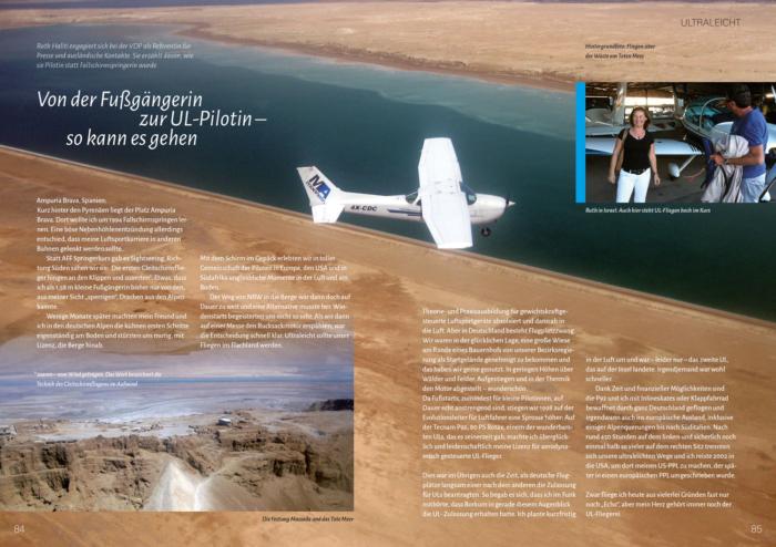 Lust auf Fliegen - Buchvorschau der Seiten 84 und 85