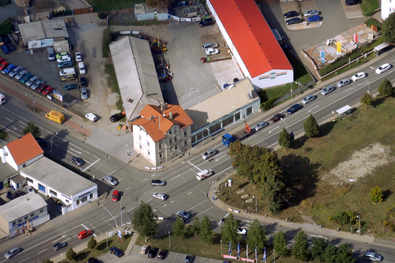 Luftaufnahme vom Eckhaus Verlag