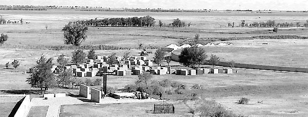 Friedhof bei Mal Rossoschka in der Nähe von Wolgograd: 56000 deutsche Soldaten haben hier ihre letzte Ruhe gefunden. Foto: aus