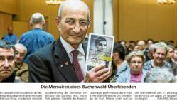 """Zeitungsartikel über Bertrand Herz und sein Werk """"Der Tod war überall"""""""